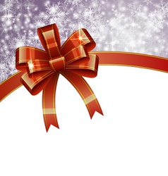Christmas Background with Bow vector image