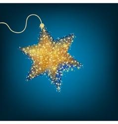 Christmas decoration golden star EPS 8 vector