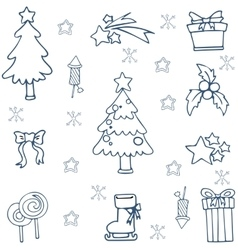 Christmas element doodle on white backgrounds vector