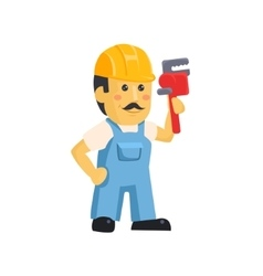 clipart picture a male mechanic cartoon vector image