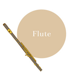 colored flute in hand-drawn style vector image