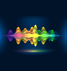 colorful voice waves or motion sound frequency vector image