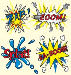 Comic book zapzoom splat kaboom vector