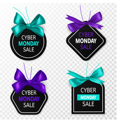 cyber monday sale labels promotion price tags vector image