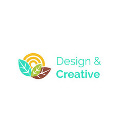 design and creative logotype for company icon vector image