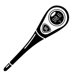 Diagnostic thermometer icon simple style vector