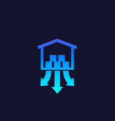 Distribution center icon vector