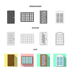 Door and front icon vector