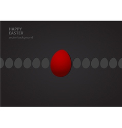 easter eggs in row vector image