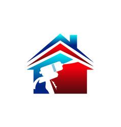 Eco home insulation usa vector