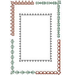 Elegant border set vector