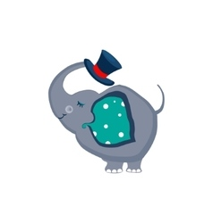 Elephant Holding a Hat with the Trunk vector