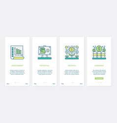 Finance income profit earnings payment ux ui vector