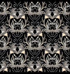 floral baroque seamless pattern ornat vector image