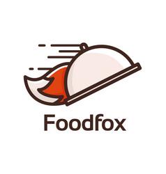 food fox logo vector image