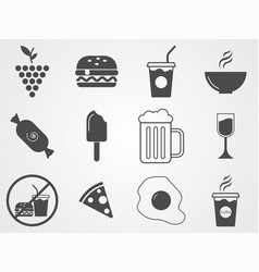 foods and drinks icon sign symbol vector image