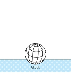 Globe icon World travel sign vector image
