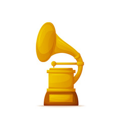 golden gramophone award trumpet and needle vector image