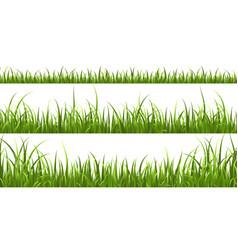 green grass horizontal borders lawn shape meadow vector image