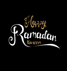 Happy ramadan kareem greeting card handmade vector