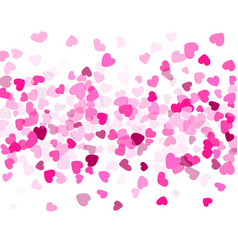 hearts confetti flying background vector image
