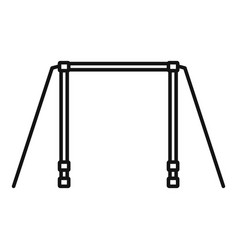 horizontal bar icon outline style vector image