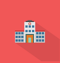 hospital icon set of great flat icons with style vector image