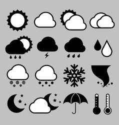 Icon set of weather eps 10 vector