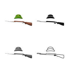 Isolated object weapons and gun logo set of vector