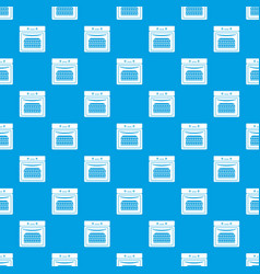 kitchen stove pattern seamless blue vector image