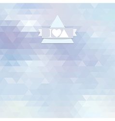 light blue color triangle vector image