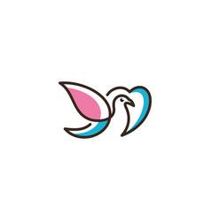 logo of love birds icon line art picture vector image