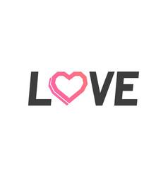 logo of love vector image