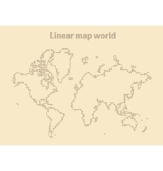 Map of Earth linear vector image