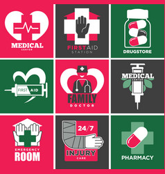 Medical care and drugstore family doctor vector