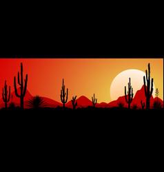 Mexico desert sunset 1 vector