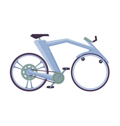 Modern bicycle ecological sport transport side vector