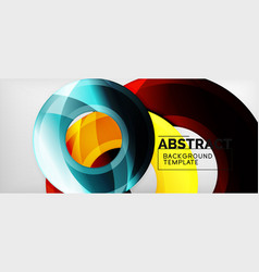 modern geometric circles abstract background vector image