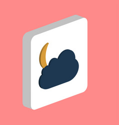 moon and cloud computer symbol vector image