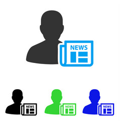 Newsmaker newspaper flat icon vector