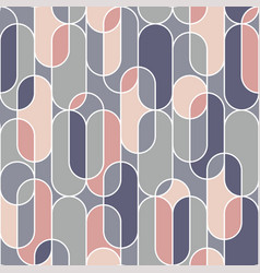 Oval shape seamless pattern in retro style vector