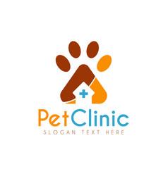 pet medical clinic health design logo vector image
