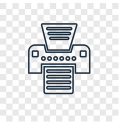 printer concept linear icon isolated on vector image