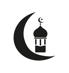 ramadan of black icons vector image