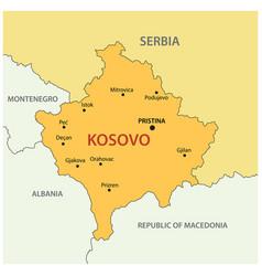 republic of kosovo - map vector image