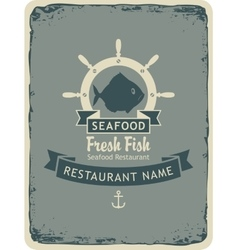 Restaurant with seafood and fish shops vector