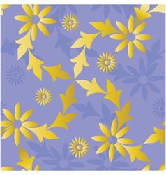 Seamless golden blue vector