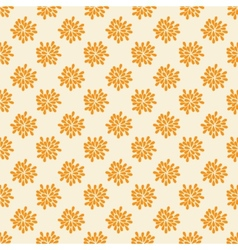 Seamless pattern with abstract orange flowers vector