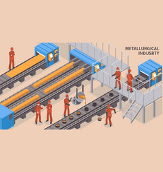 steel industry isometric vector image