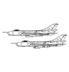Sukhoi su-7 fitter vector